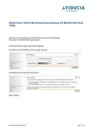 Ablauf einer Online-Banking-Erstanmeldung mit MobileTAN