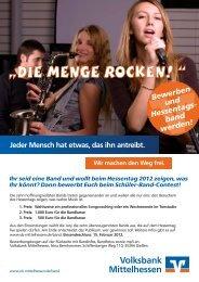 Schüler-Band-Contest - Volksbank Mittelhessen