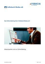 Anleitung Internet-Banking - Volksbank Modau eG