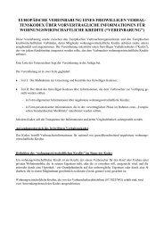 Verhaltenskodex über vorvertragliche Informationen für ...