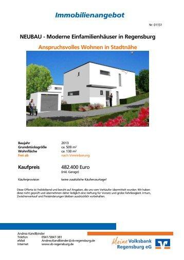 Immobilienangebot - Volksbank Regensburg eG