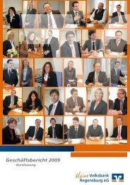 Geschäftsbericht 2009 - Volksbank Regensburg eG