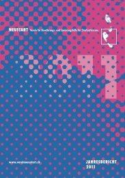 JAHRESBERICHT 2011 JAHRESBERICHT 2011 - Verein NEUSTART