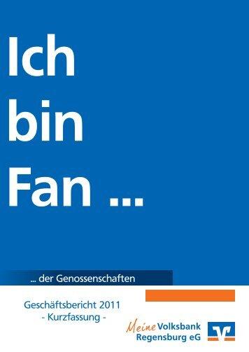 Geschäftsbericht 2011 - Volksbank Regensburg eG