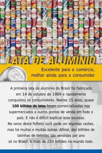 Folheto Vantagens da lata - Abralatas