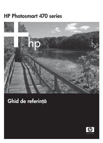 HP Photosmart 470 series Ghid de referinţă