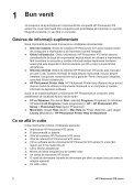 HP Photosmart 470 series Ghid de referinţă - Page 6