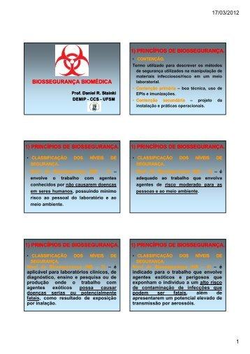 Aula 1 Biossegurança [Modo de Compatibilidade] - UFSM