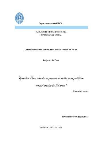 ProjectoTese .pdf - Estudo Geral - Universidade de Coimbra