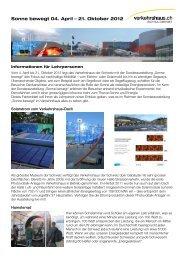Sonne bewegt - Verkehrshaus der Schweiz