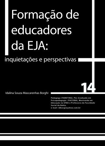 Formação de educadores da EJA: - Faculdade Social