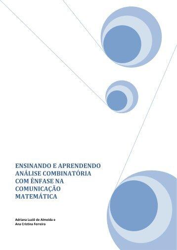 ensinando e aprendendo análise combinatória com ênfase na