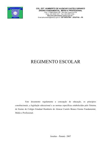 regimento escolar - COLEGIO ESTADUAL HUMBERTO DE AC ...
