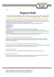 FAQs Kreditkarte - Vereinigung Cockpit eV