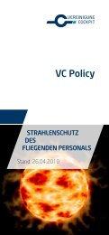 Policy Strahlenschutz des fliegenden Personals - Vereinigung ...