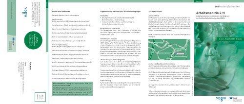 Arbeitsmedizin 2.11, TS-FVDBW2.11 - Verband Deutscher Betriebs ...