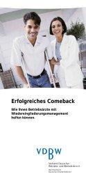 Erfolgreiches Comeback - Verband Deutscher Betriebs- und ...