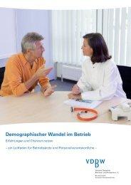 Leitfaden Demographischer Wandel im Betrieb - Verband Deutscher ...