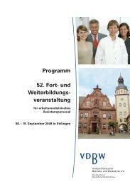 Programm Ettlingen - Verband Deutscher Betriebs- und Werksärzte ...