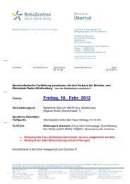 Freitag, 10. Febr. 2012 - Verband Deutscher Betriebs- und ...