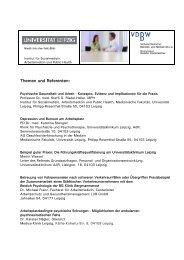 Themen und Referenten: - Verband Deutscher Betriebs- und ...