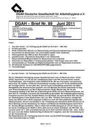 DGAH – Brief Nr. 89 Juni 2011 - Verband Deutscher Betriebs- und ...