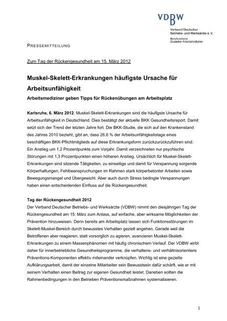 Download Pressemitteilung - Verband Deutscher Betriebs- und ...