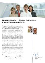 Bestellfolder für Werbemittel des VDBW - Verband Deutscher ...