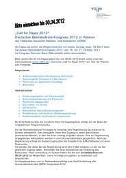 """Call for Paper 2012"" Deutscher Betriebsärzte-Kongress 2012 in ..."