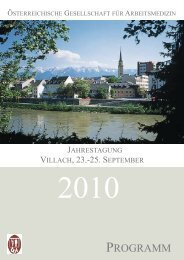 jahrestagung 2010 - Verband Deutscher Betriebs- und Werksärzte e.V.
