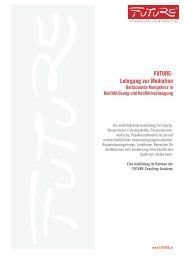 Future-Lehrgang Mediation