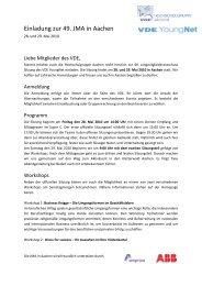 Einladung zur 49. JMA in Aachen - VDE
