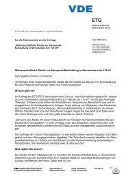 Wissenschaftliche Studie zur Sternpunktbehandlung in ... - VDE