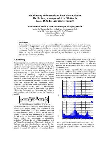 Modellierung und numerische Simulationsmethoden für die ... - VDE
