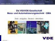 Die VDI/VDE-Gesellschaft Mess- und Automatisierungstechnik · GMA