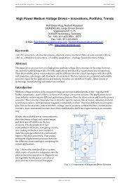 High Power Medium Voltage Drives ΠInnovations, Portfolio ... - VDE