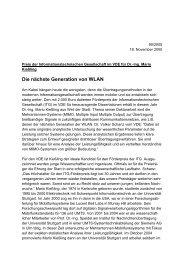 Die nächste Generation von WLAN - VDE
