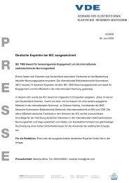 Deutsche Experten bei IEC  ausgezeichnet - VDE