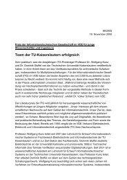 Team der TU-Kaiserslautern erfolgreich - VDE