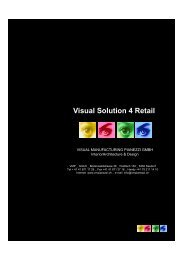 Visual Solution 4 Retail - Visual Manufacturing Pianezzi GmbH
