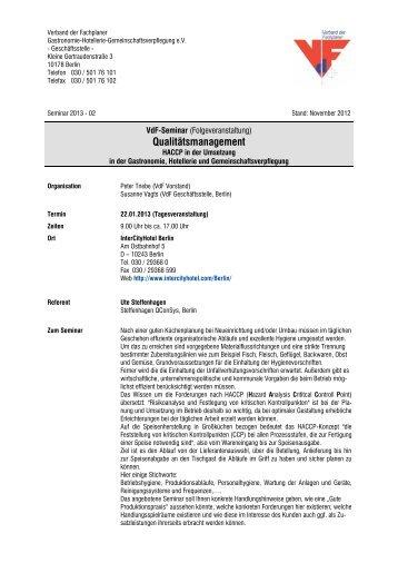 Qualitätsmanagement - Verband der Fachplaner Gastronomie ...