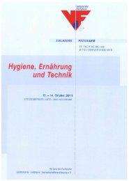 Hygiene, Ernährung - Verband der Fachplaner Gastronomie