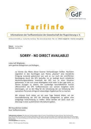 Tarifinfo als PDF - GdF Gewerkschaft der Flugsicherung eV