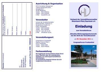 Einladung - Verband der Immobilienverwalter Rheinland-Pfalz ...