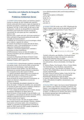 Problemas Ambientais Gerais - Projeto Medicina