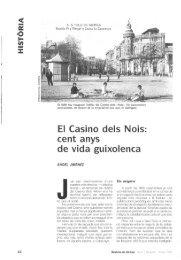 E o El Casino deis Nois: cent anys de vida guixolenca - Raco