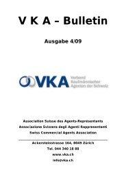 Bulletin - VKA - Verband kaufmännischer Agenten der Schweiz