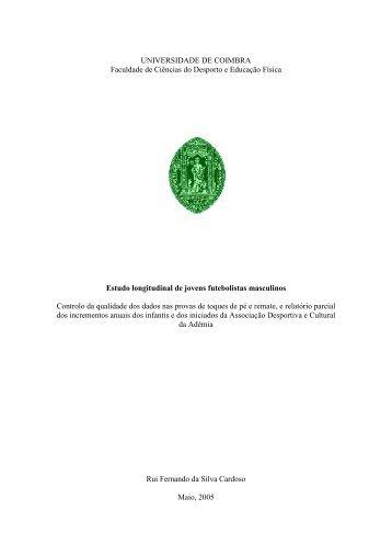 UNIVERSIDADE DE COIMBRA - Estudo Geral - Universidade de ...