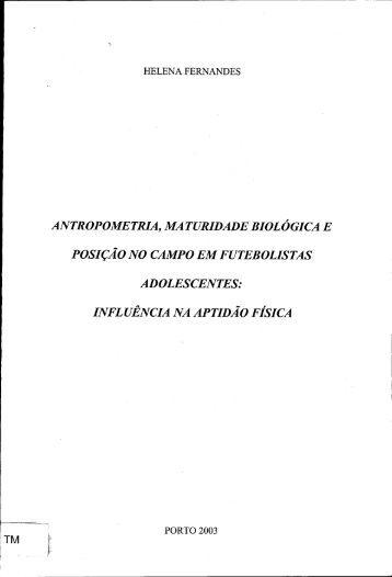 influência na aptidão física - Repositório Aberto da Universidade do ...