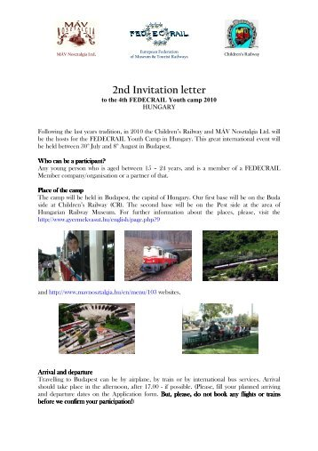 2nd Invitation letter - VDMT